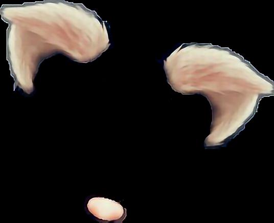 snapchat cat filter catfilter sticker by susen vilp makeup clip art png makeup clipart transparent