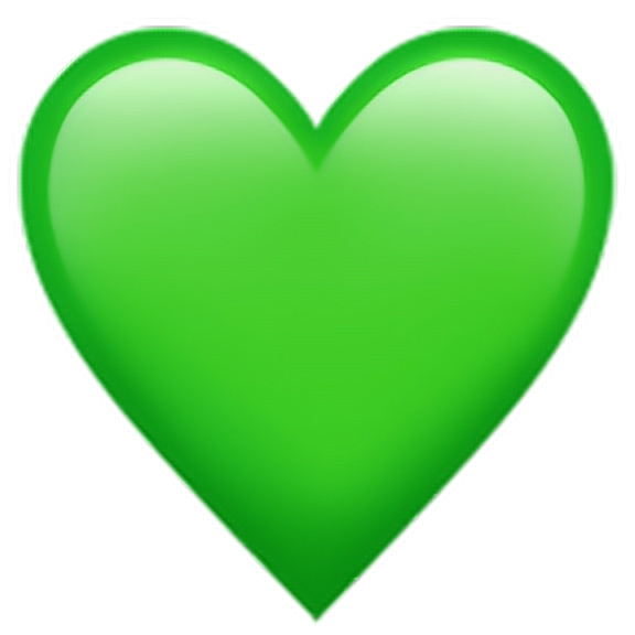 Greenheartemoji Green Heart Emoji