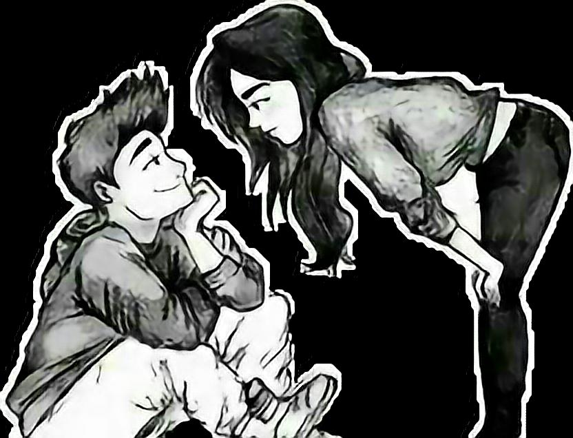 Dibujos A Lapiz De Amor: Amor Novios Parejas Dibujo