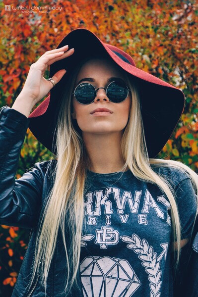 Md. Polina #girl #portrait #beautiful #hat #style #blonde #colorful #colorsplash #sunglasses #hipster