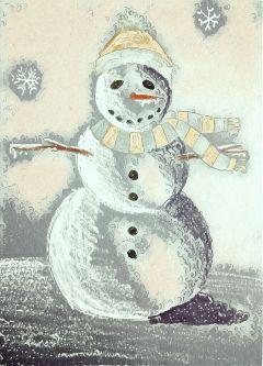 freetoedit painting snowman snowflake snow