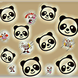 FreeToEdit panda remix magiceffect cartoon remixestoday remixes remixed animal