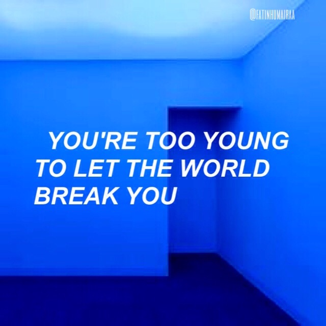 bangtansonyeondan bts quote blue aesthetic...