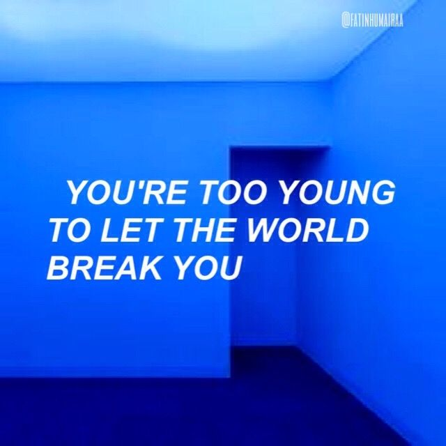 Colorful Wall Stickers Bangtansonyeondan Bts Quote Blue Aesthetic