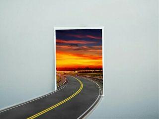 freetoedit remixed edited road surreal
