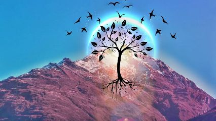 freetoedit remixed mountains treeoflife birds