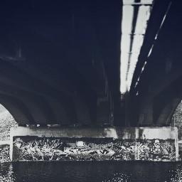 bridge blackandwhite graffiti popart bridgewater