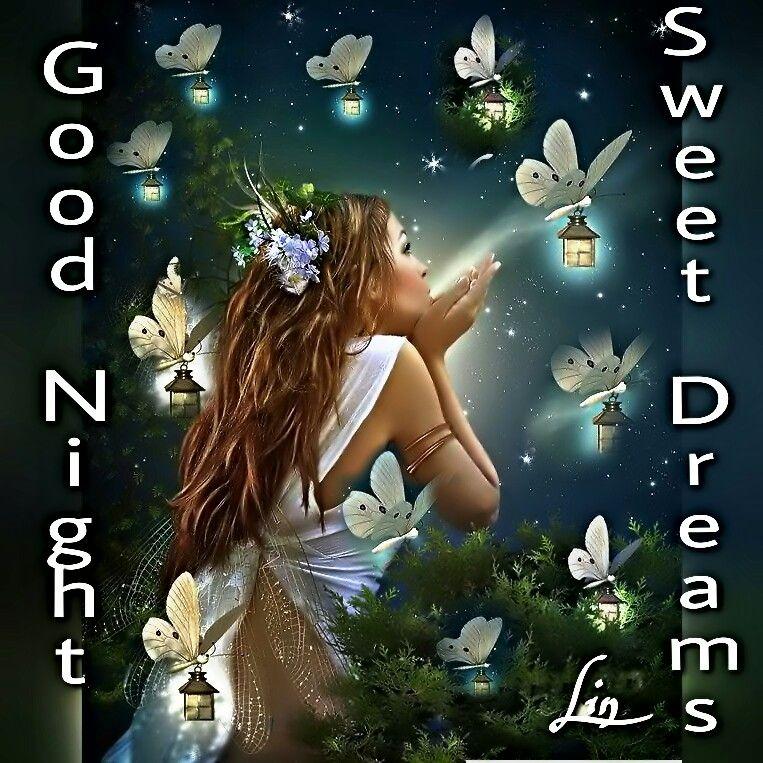 FreeToEdit good night sweet dreams everyone woman butte