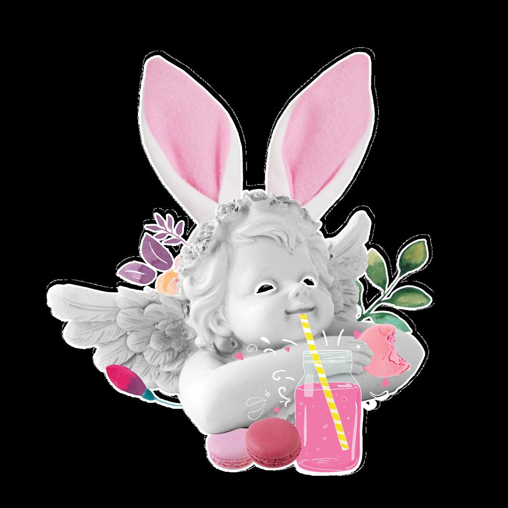 #fte #ftestickers #ftesticker #angel #kid #flower #drink #pink #macaroon #happy #pink #bunny #plant #breakfast #design #art #graphicdesign #illustration # statue #magenta