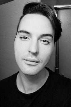 selfie portrait people_face eyes blackandwhite freetoedit