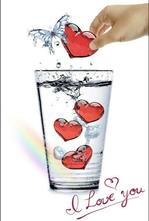 freetoedit waterremix glasses heart hands
