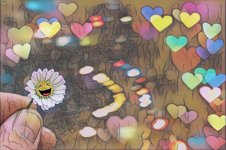daisy flower magiceffectnoepop colorful lightmask