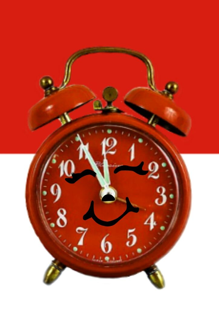 #FreeToEdit  #clock #time #red #cute #smile #background #bicolor #twotone  #remixed #myedit