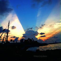 indonesia senja langit view biru