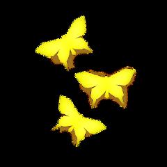 butterflys yellow pa freetoedit