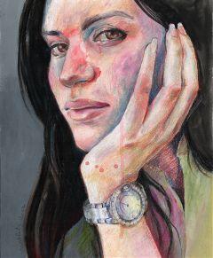 drawing oilpastel portrait