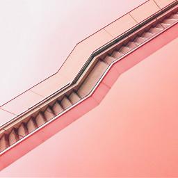 freetoedit pink minimal pastelcolor stairs