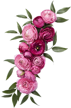 floral wreath flowers pink