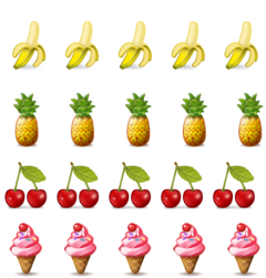 fruits background strickers freetoedit
