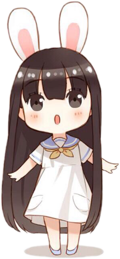 bunny anime chibil freetoedit