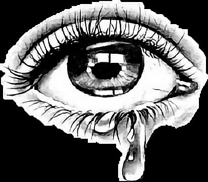 Tear Eye Sticker By Taliafera