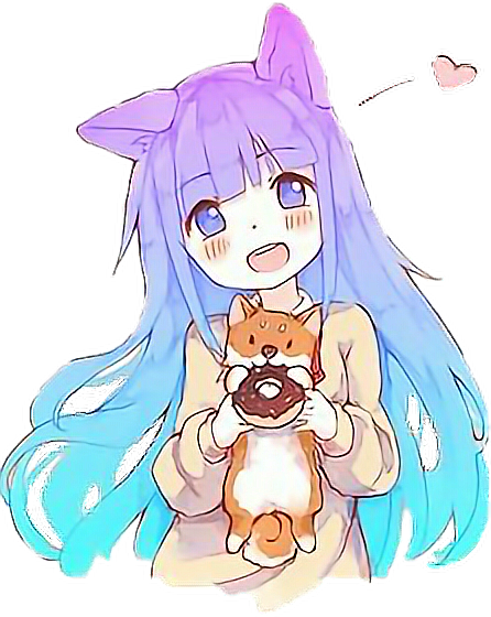 puppy donut catgirl cute adorable anime
