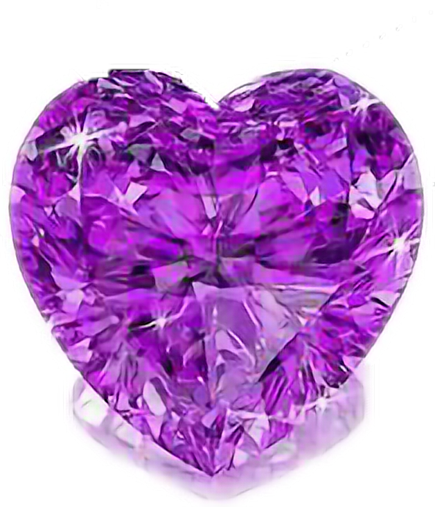 #heart  #purple #diamond