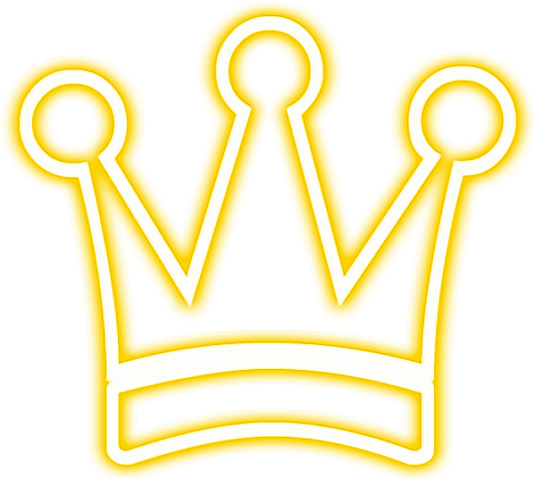 Crown Snapchat Neon Gold Yellow Glowing