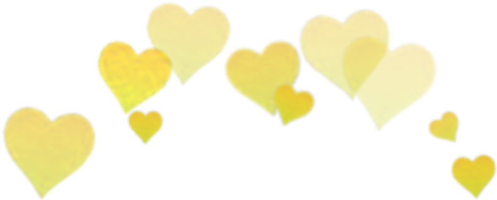 Yellow Hearts Filter Selfie Snapchat Crown