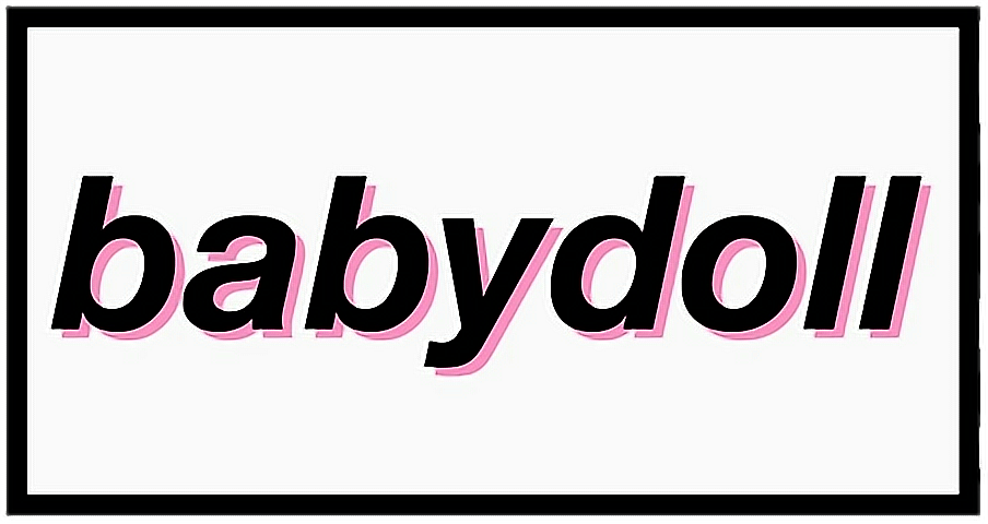 #baby #doll #babydoll #letters #tumblr #aesthetic #black #freetoedit