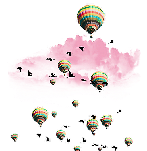 #dailyremix #sticker #cloud #pink #birds #sky #aerostaticglobe
