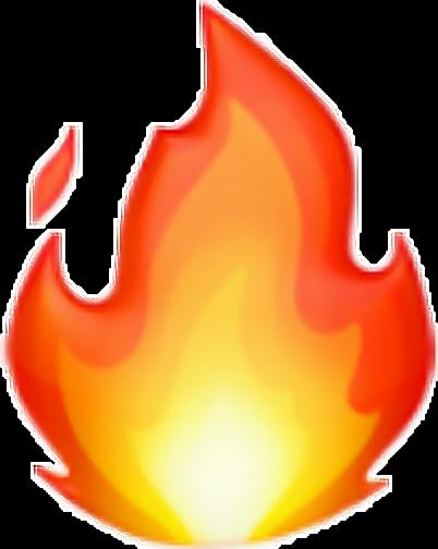 Emoji Fuego Ios Calor Rojo Ios Emoticono Emojideios
