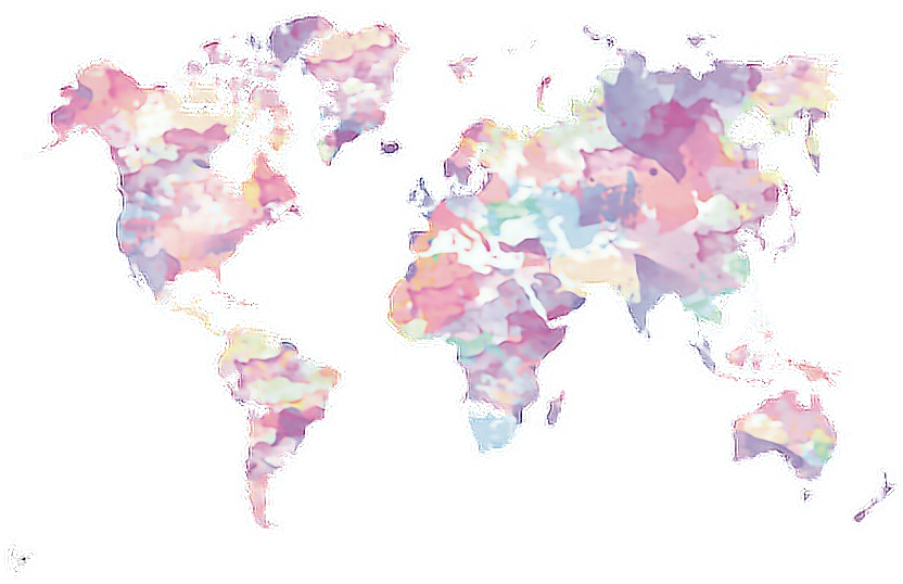 Pastel tumblr map maps world pink purple blue freetoedi report abuse gumiabroncs Image collections