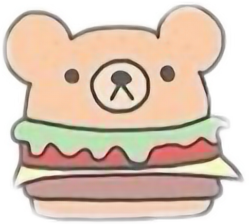 hamburger cute tumblr kawaii food art drawing freetoedi...