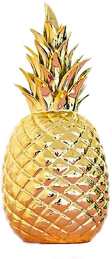 Ananas#stiker#gold#freetoedit