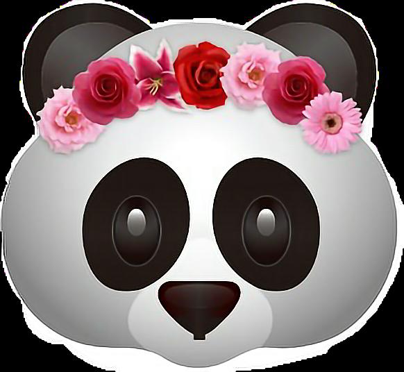 panda emoji flower flowercrown freetoedit.