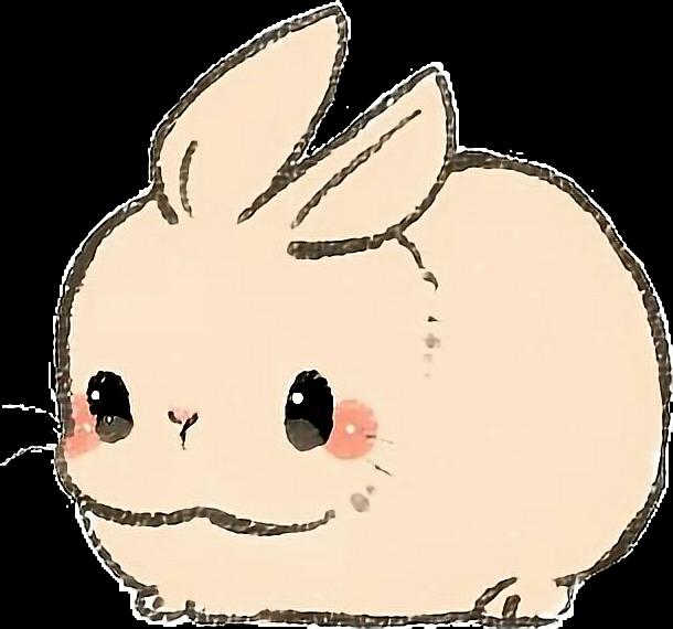 Kawaii Cute Bunny Draw Drawing Sticker By Kloma