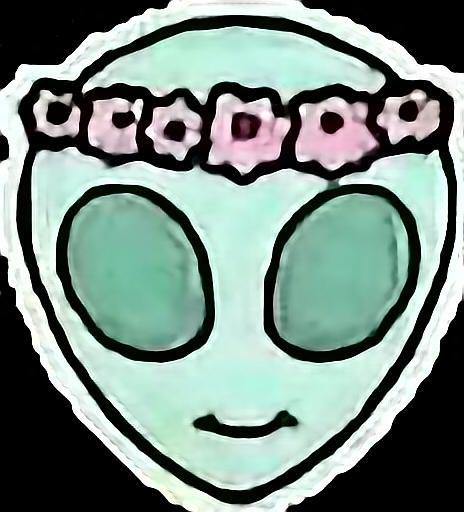 #alienwithflowerglory #alien #aliensticker #tumblrstyle