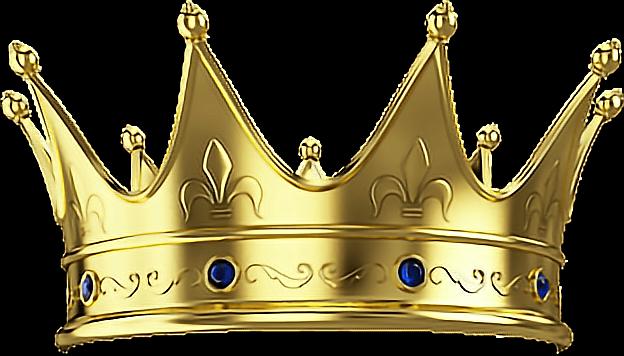 Crown King Goldfreetoedit Sticker By Picsart