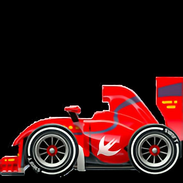 RacingCar emoji apple ios11 red