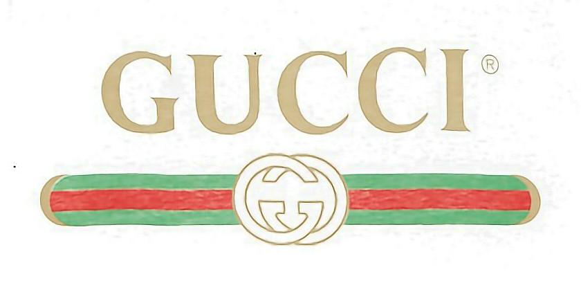 gucci logo - Sticker by ☁ Q i n 子 芩