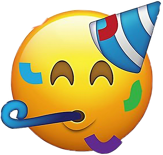 Ios12 Party Emoji Emojis Face Happy Partytime Partyhat