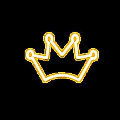 crown king queen kween yellow gold neon light goldcrown