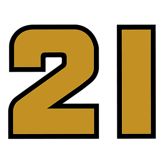 21 number woodbrothers racing gold numero numeral numbe