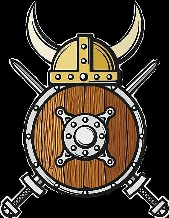 colormehappy vikingstickers vikings headgear shield shi...