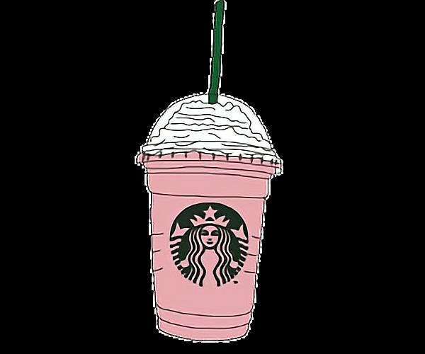 Dibujo Cool Tumblr Rosa Starbucks Pink Alegre Feliz Lic