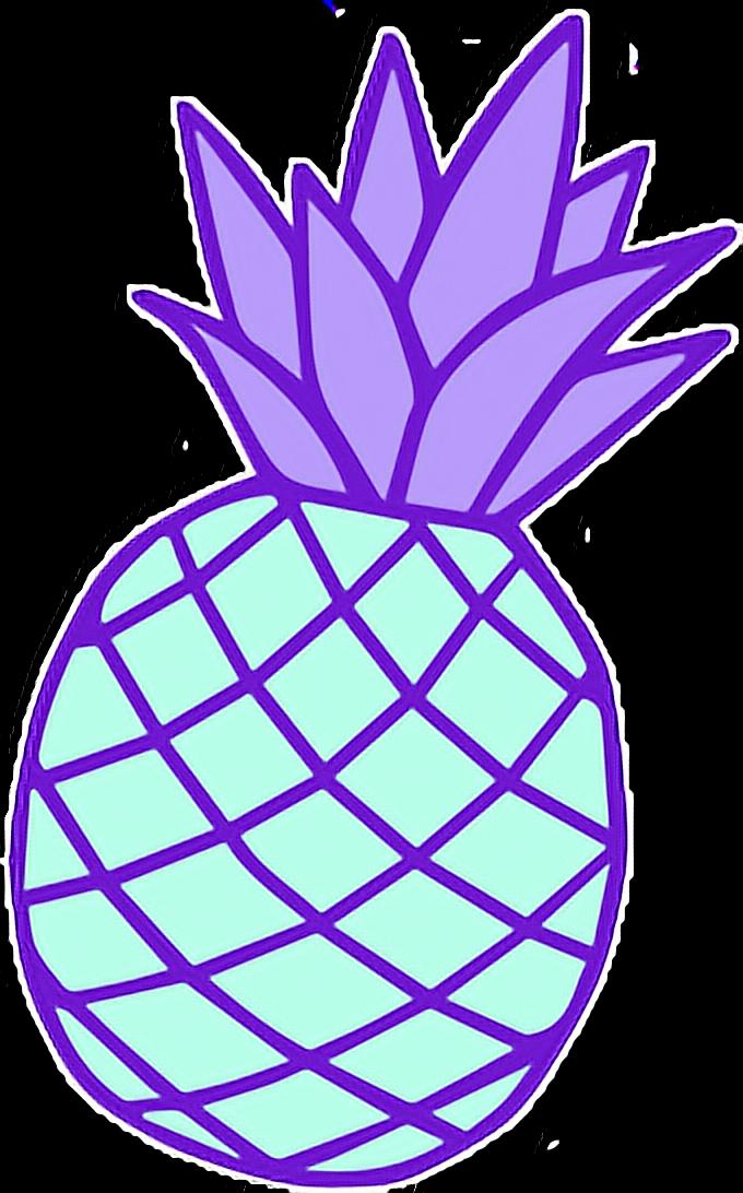 Ananas Pineapple Purple Cute Kawaii Pastel Pastelcolor