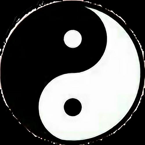 Yinyang Tumblr Black White Good Evil Chinese Freetoedit