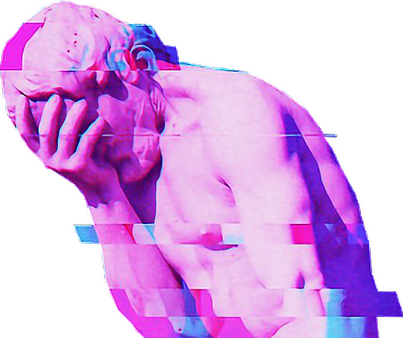 statue vaporwave aesthetic tumblr purple glitch estatua...