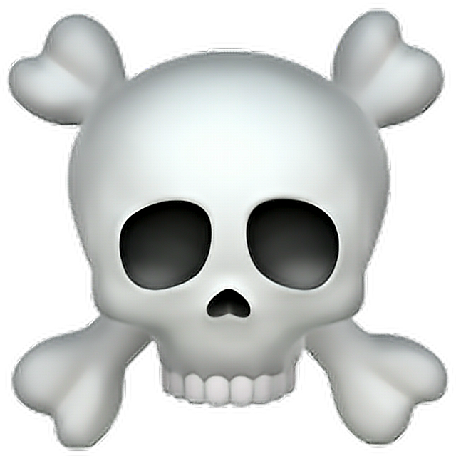 Skull And Crossbones Emoji Skull Bones Emoji Emoticon